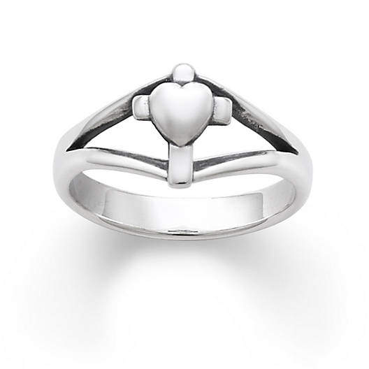 View Larger Image of Cross with Heart Ring