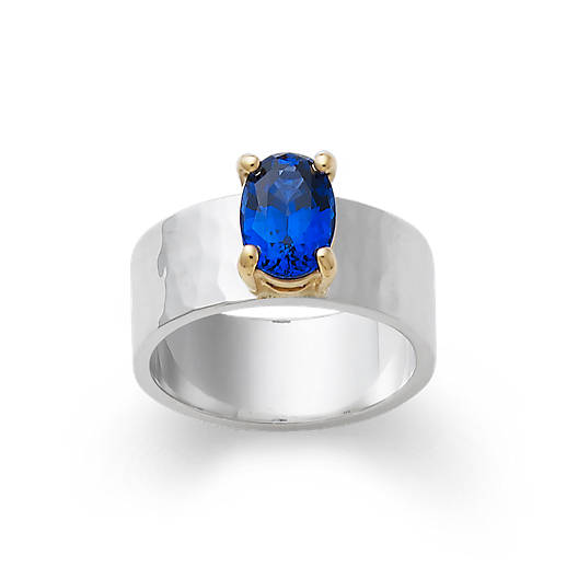 Julietta Ring with Lab-Created Blue Sapphire