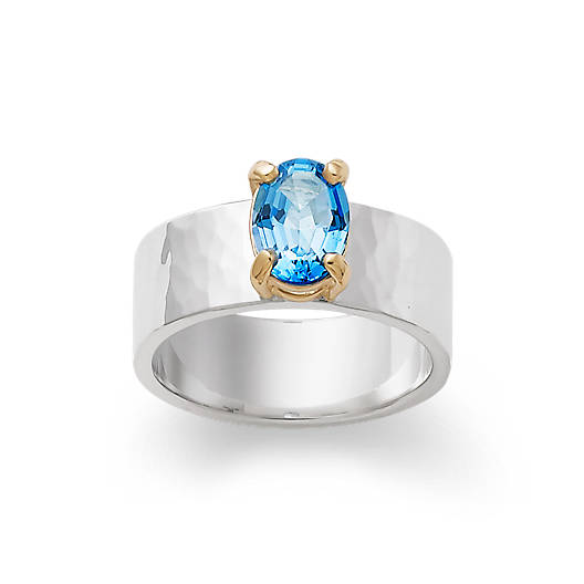 View Larger Image of Julietta Ring with Blue Topaz
