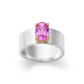 Julietta Ring with Lab-Created Pink Sapphire