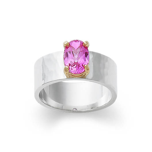 View Larger Image of Julietta Ring with Lab-Created Pink Sapphire