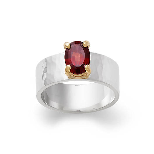 View Larger Image of Julietta Ring with Garnet