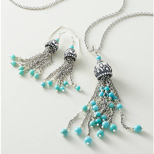 View Larger Image of Turquoise Tassel Pendant