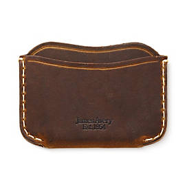 Three-Pocket Leather Card Case