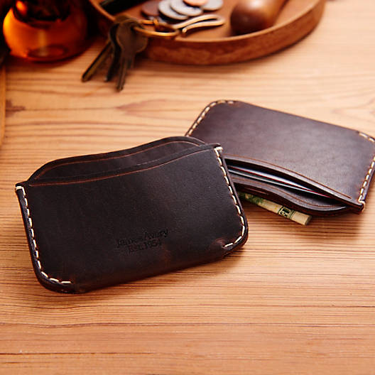 View Larger Image of Three-Pocket Leather Card Case
