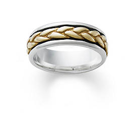 Silver Band with Gold Braid